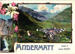 2 Brochures  Andermatt Danioth's Grand Hôtel  Oberalp-Engadin Wintersport -Platz  Kanton Uri  Hôtel Krone Altdorf - Dépliants Touristiques
