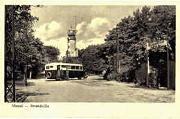 CPA N°9689 - MEMEL - STRANDVILLA + AUTOCAR - Ostpreussen