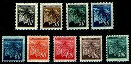 Tschechoslowakei Czechoslovakia 1945 - MiNr 424-432 - Lindenzweig - Tchécoslovaquie