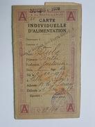 Rationnement - Carte D'Alimentation - Avec Tickets De Sucre - Paris 19 ème - Mme Dubo Berthe - Historical Documents