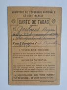 Rationnement - Carte De Tabac - Stalag VIA - Mr Gerbaud Roger - Cachet Débit Tenu Par A. Degueret à Chateauroux - Historische Dokumente