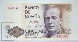 Spain/ España 5000 Pesetas/ Ptas Spanish Banknote - Issued 1979, F Series - UNC Quality - [ 4] 1975-… : Juan Carlos I