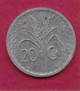 Indochine - 20 Centimes - 1945 - Monnaies