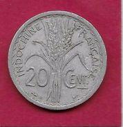 Indochine - 20 Centimes - 1945 B - Monnaies