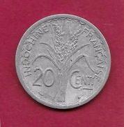 Indochine - 20 Centimes - 1945 C - Coins