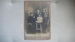 Photo Sur Carton 19ème S. Famille, 1 Femme Et 4 Enfants, Studio Photo Raoul Et Cie - PARIS - Photos