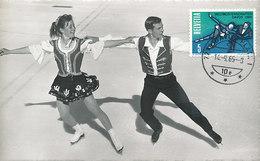 D31715 CARTE MAXIMUM CARD 1965 SWITZERLAND - FIGURE SKATING DAVOS CP ORIGINAL - Winter (Other)