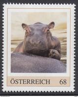 ÖSTERREICH 2017 ** Flusspferd / Hippopotamus Amphibius - PM Personalized Stamps MNH - Personalisierte Briefmarken