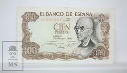 Spain/ España 100 Pesetas/ Ptas Spanish Banknote, Francisco Franco - Issued 1970, Colour Variety - VF Quality - [ 3] 1936-1975 : Régence De Franco