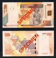 CONGO DR (KINSHASA)  -  30/06/2013 5000f  Guinea Fowl  SPECIMEN  UNC - Democratic Republic Of The Congo & Zaire