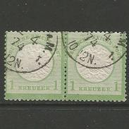 Deutsches Reich. Adler Mit Großem Brustschild, Paar Nr. 23, Stempel Frankfurt 4.1874 - Gebraucht