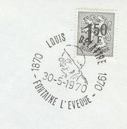 1970 BELGIUM COVER EVENT Pmk LOUIS DELATTRE Centenary FOUNTAINE L'EVEQUE ,stamps - Belgium