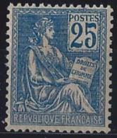 France XXème Siècle  N° 118 25c Mouchon Bleu Tyype II Qualité: ** Cote: 485 € - 1900-02 Mouchon