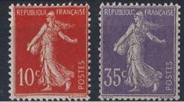 France XXème Siècle  N° 135 Et 136 10c Et 35c Semeuse Chiffres Maigres Qualité: * Cote: 179 € - 1906-38 Semeuse Camée