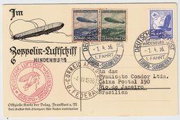 1936, (Zeppelin) Hindenburg , #8754 - Deutschland