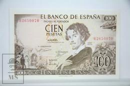 Spain/ España 100 Pesetas/ Ptas Spanish Banknote - Issued 1965 - AU Quality - [ 3] 1936-1975 : Régimen De Franco