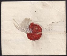 1784. CASTELHOHN TO OWAMBO - PER EXPRESS - WAX SEAL WITH WHITE FEATHER. - Sonstige