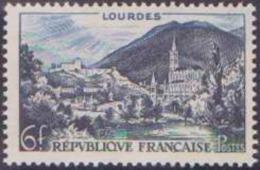 France Variétés N° 976 6f Lourdes Montagnes Enneigées Qualité: ** - Variedades: 1950-59Nuevos