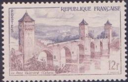 France Variétés N° 1039 12f Pont Valendré Couleur Brune Absente Qualité: ** - Variedades: 1950-59Nuevos