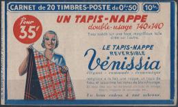 France Carnets N° 283 - C45 50c Paix Rouge (s.347) Quelques Adhérences De La Couverture Qualité: ** Cote: 540 € - Freimarke