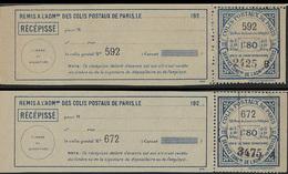 France Colis Postaux De Paris Pour Paris N° 70 + 70a Envoi En Nombre 1f Bleu Foncé Et Surchargé 2 Lignes De Points Viole - Colis Postaux