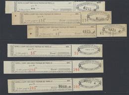France Colis Postaux De Paris Pour Paris N° 168 /168a/169/170/171/172 6 Valeurs Qualité: ** Cote: 144 € - Colis Postaux