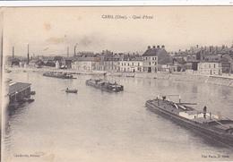 60. CREIL. CPA . QUAI D'AVAL. ANNÉE 1917 - Creil