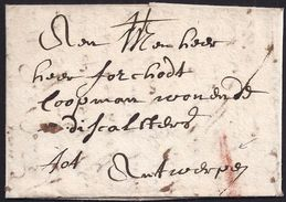 """1708. MECHELEN TO ANTWERP. RATE """"I"""" IN RED INK. - Altri"""