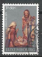 Luxembourg 1971. Scott #B284 (U) Christmas, Noel, Wooden Statue From Crèeche Of Beaufort Church - Luxembourg