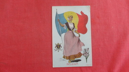 Female With Flag   Ref 2702 - Belgique