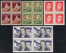 PRO JUVENTUTE 1927 BlocS De 4 ** / MNH Série Complète SBK 30,- à 20 % - Ungebraucht