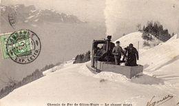 CPA  -  Chemin De Fer De GLION - NAYE  (VD)   Le Chasse  Neige - VD Waadt