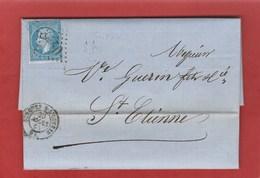 Vaucluse - Sorgues Sur L'Ouveze -GC3440 Sur N°22 - LAC Mars 1865 - Marcophilie (Lettres)