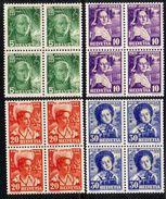 PRO JUVENTUTE 1936 Blocs De 4 ** / MNH Série Complète SBK 60,- à 20 % - Neufs
