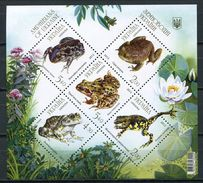 Ukraine 2012 Ucrania / Amphibians Frogs MNH Ranas Frösche / Cu5022  1 - Frösche