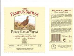 """Etiquette De WHISKY ECOSSAIS """" THE FAMOUS GROUSE """" - Whisky"""