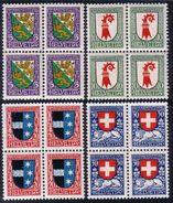 PRO JUVENTUTE 1926 Blocs De 4 ** / MNH Série Complète SBK 40,- à 20 % - Ungebraucht