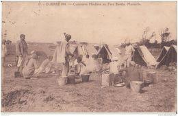 MARSEILLE  GUERRE DE 1914 LES HINDOUS CUISINIERS TRES ANIMÉES CPA BON ÉTAT - Guerre 1914-18