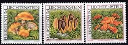 Liechtenstein, 1997, Mi.1152/54,  Seltene Pilze. MNH ** - Unused Stamps