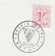 1967 BELGIUM COVER EVENT Pmk  FPN Catholic YOUTH MOVEMENT, NATOYE, Stamps Religion Christianity - Christianity