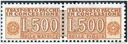 PIA - ITA - Specializzazione : 1977 :  Pacchi In Concessione £ 500   - (SAS 19/II  - CAR 37) - 6. 1946-.. Repubblica