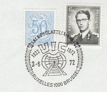 1972 BELGIUM COVER EVENT Pmk  UIC International RAILWAY UNION , Train,  Stamps - Trains