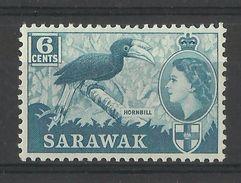 SARAWAK  1957  BIRD,RHINOCEROS HORNBILL   MH - Non Classés