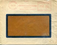 26055 Jugoslavia, Red Meter/freistempel/ema/ 1934 Daruvar Gradanska Dionicka Stediona, Circuled Cover - Covers & Documents