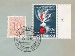 1966 BELGIUM COVER EVENT Pmk  BRUSSELS INTERNATIONAL FAIR , Stamps Socialist Socialism Politics - Belgium