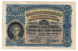 Switzerland 100 Francs 07/10/1943 - Svizzera