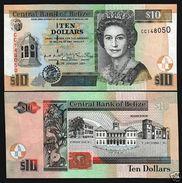 Belize 10 Dollars 2001 Pick 62b UNC - Belize