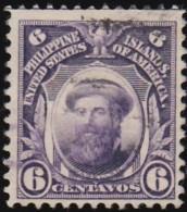 PHILIPPINES - Scott #263 Ferdinand Magellan / Used Stamp - Philippines