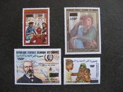 Comores:  TB Série N° 503 Au N°506, Neufs XX. - Comores (1975-...)
