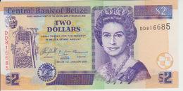 Belize 2 Dollars 2005 Pick 66b UNC - Belize